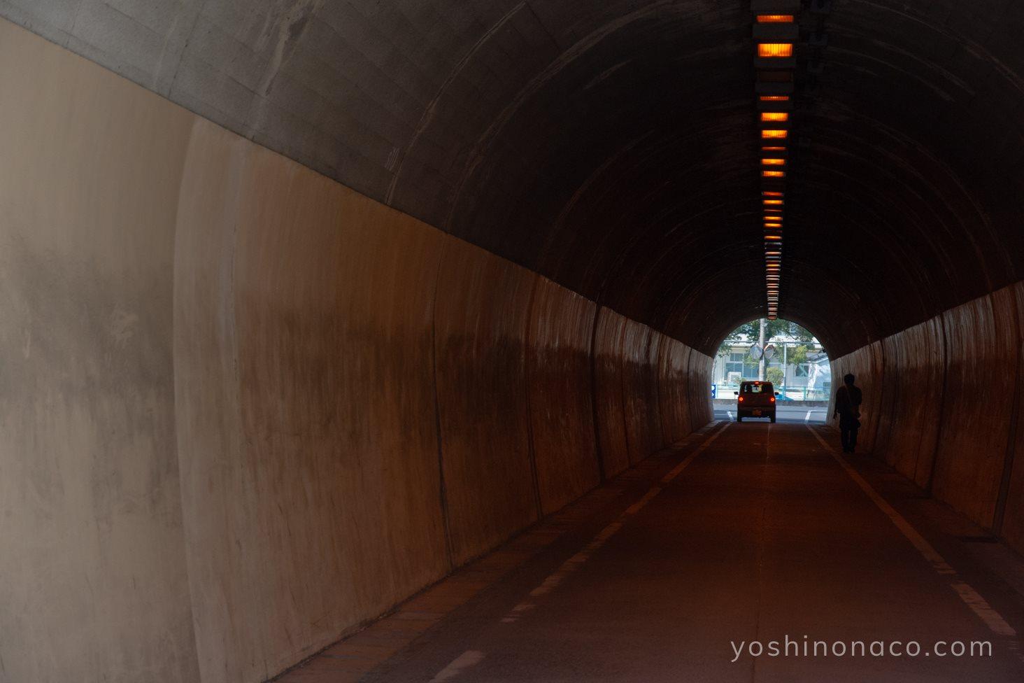 鶴形山のトンネル